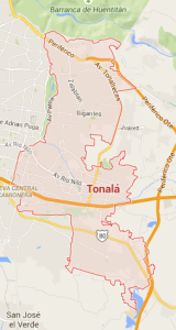 Tonalá Map