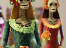 two catrina figurines