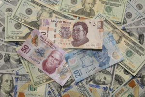 pesos and dollars