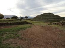 a circular pyramid at Guachimontones