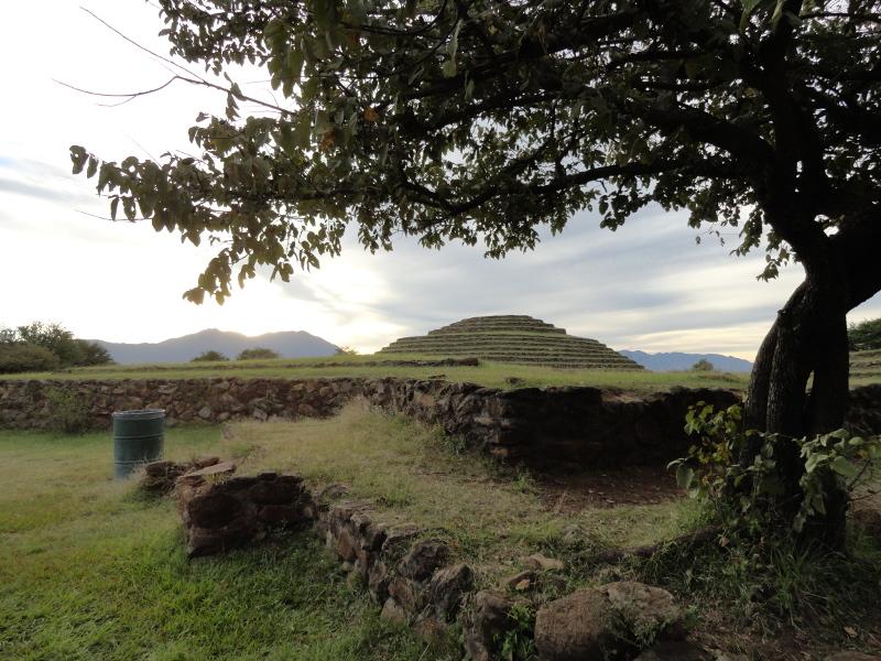 Guachimontones circular pyramid