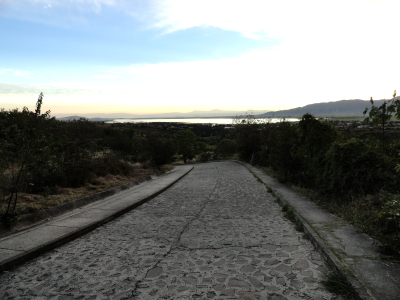 Guachimontones roadway to ruins