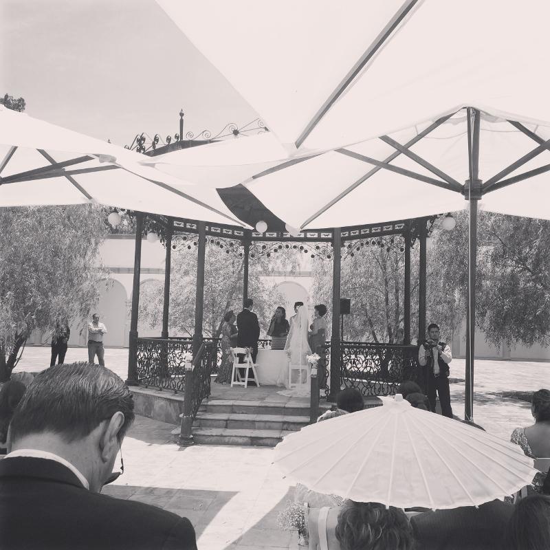 Civil ceremony on the gazebo