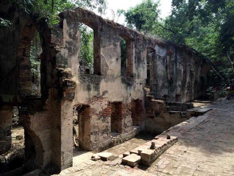 A La Escoba ruins wall